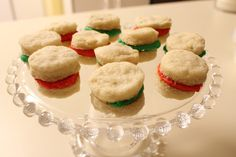 Creme wafer Cookies.  Tender and flaky with sweet buttercream in the middle.     by Suzy Social Worker