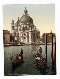 """Venice, Veneto, Italy Date: ca. 1890 - 1900 Notes: """"Church of Salute, Venice, Italy."""" Digital ID: 06730. Contributed by: Courtesy of the Library of Congress."""