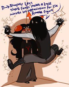 homestuck aradia megido drawings equius zahhak homestuck trolls woot woot those two stupid memes with equius