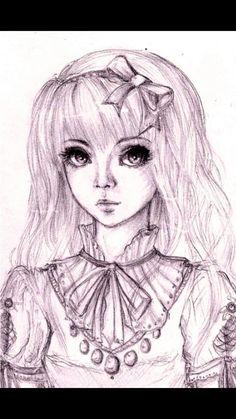 Image for Anime Manga Drawing Posh Manga Girl Drawing Keepondigging 2013 Sep 30 2010 Cool Easy Drawings, Hard Drawings, Easy Doodles Drawings, Simple Doodles, Manga Girl, Manga Anime, Manga Drawing Tutorials, Drawing Ideas, Drawing Poses