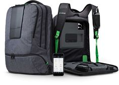 AMPL SmartBackpack: Intelligently recharge all your gadgets on-the-go, keep them safe from everyday abuse and monitor everything from our mobile app without opening a zipper.