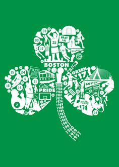 Boston Celtics #Boston #Celtics #clover #art