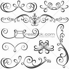 Calligraphic elements! Victorian shapes
