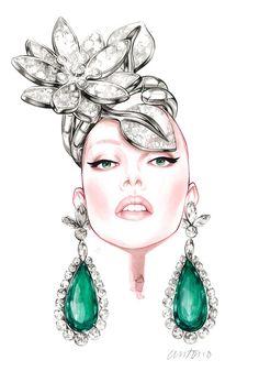 antonio: Photo - Bulgari& Van Cleef and Arpels - bisuteria illustration model Fashion Illustration Face, Jewelry Illustration, Jewelry Model, Photo Jewelry, Jewelry Design Drawing, Fashion Accessories, Fashion Jewelry, Jewelry Editorial, Jewelry Tags