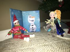 Jingles was reading the OlAf book.  Everyone is missing Olaf as he has made his way to storage some how.