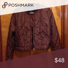 Women's American Eagle Bomber Jacket BNWOT Burgundy Cropped style. Never Worn American Eagle Outfitters Jackets & Coats Puffers