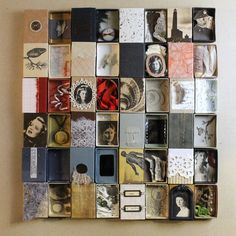 handmade books and other treasures Collages, 3d Collage, Collage Art Mixed Media, Altered Books, Altered Art, Art Postal, Matchbox Art, Found Object Art, Assemblage Art