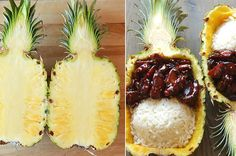 This Teriyaki Chicken Pineapple Boats are so simple and so delicious!