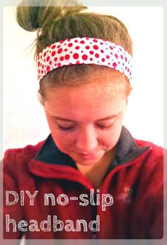 No-slip Headband: This headband tutorial requires an average level of skill with the sewing machine. These headbands really stay on your head without being too tight and the size can be adjusted. No Slip Headbands, Sewing Headbands, How To Make Headbands, Fabric Headbands, Headbands For Women, How To Make Hair, Flower Headbands, Baby Headbands, Headband Tutorial