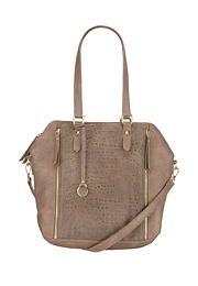 Metallic zip textured satchel - maurices.com