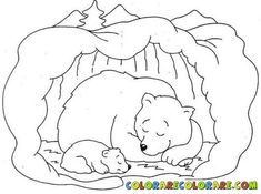 Hibernating Bear Coloring Pages Free - Printable Coloring Pages Coloring Pages For Grown Ups, Heart Coloring Pages, Preschool Coloring Pages, Animal Coloring Pages, Free Printable Coloring Pages, Free Coloring Pages, Coloring Sheets, Coloring Pages Winter, Adult Coloring