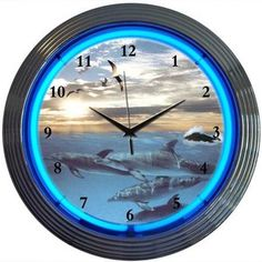 Neonetics Dolphins at Sea Neon Clock