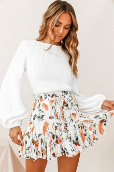 Cute Casual Outfits, Girly Outfits, Cute Summer Outfits, Mode Outfits, Orange Outfits, Cute Easter Outfits, Casual Summer, Winter Outfits, Cute Summer Clothes