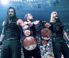 New U.S. Champion and Tag Team Champions. The Shield. Roman Reigns. Dean Ambrose. Seth Rollins.
