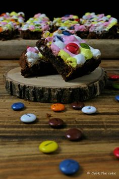 S´mores brownie with Lacasitos / Brownie s´mores con Lacasitos http://www.cookthecake.com/2017/05/brownie-smores-con-lacasitos.html