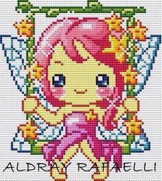 Elves Fantasy, Perler Beads, Beading Patterns, Cross Stitch Patterns, Girly, Kawaii, Dolls, Fictional Characters, Charts