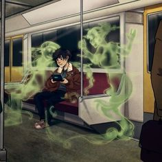 Thats creepy. Just playing your DS game on the way to SAVE the world and POP you have ghost stalking you.