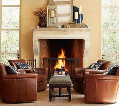 Pottery Barn's expertly crafted collections offer a widerange of stylish indoor and outdoor furniture, accessories, decor and more, for every room in your home. Swivel Club Chairs, Small Swivel Chair, Leather Swivel Chair, Leather Club Chairs, Swing Chairs, Elegant Living Room, Small Living Rooms, Formal Living Rooms, Cozy Living