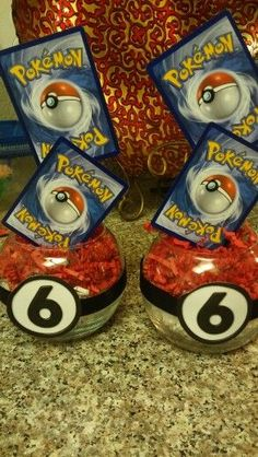 Pokemon centerpieces with Pokemon Themed Party, Pokemon Birthday, 6th Birthday Parties, 10th Birthday, Birthday Ideas, Pokemon Party Decorations, Birthday Party Decorations, Festa Pokemon Go, Pokemon Pokemon
