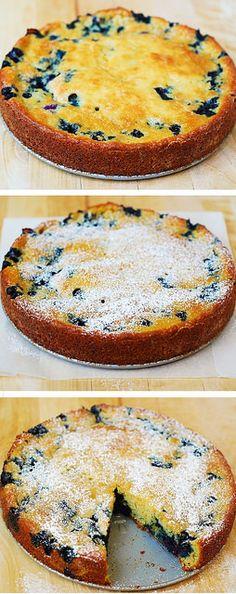 Blueberry Greek yogurt cake by JuliasAlbum.com, via Flickr