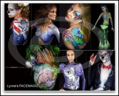 "Lynne's FACEMAGIC Face Painter Body Artist Melbourne: Painting"" Australia Day"" Designs"