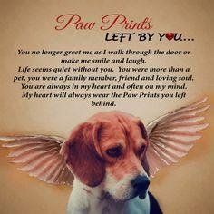 Angel Paw Prints Beagle Plaque