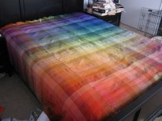 This may be one of the most beautiful pieces of handmade fabric I've ever seen. Now I need a rigid heddle loom. Wowsers.