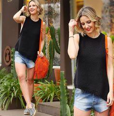 Jeans + preto + cor