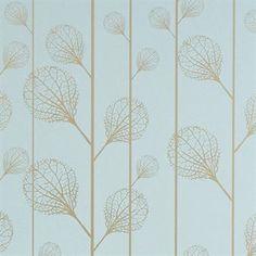 Ribbed Tapete - türkis/gold - Ferm Living
