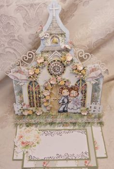 ScrapbookFashionista Designs by Rina: Wedding Card for Magnolia Down Under and Totally Tilda Challenge