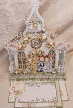 ScrapbookFashionista Designs by Rina: Wedding Card for Magnolia Down Under and Totally Tilda Challenge