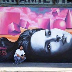 3d рисунок на стене Мартина Рона