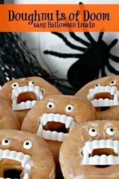Easy Halloween Treats: Doughnuts of Doom