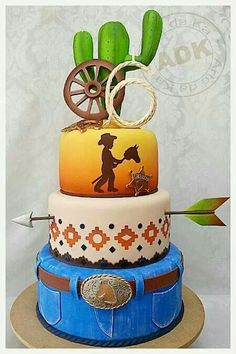 So cute lil buckaroo cake