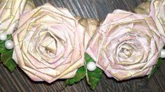 detail papírových růží