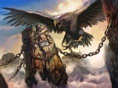 PROMETEO : era un hijo de Jápeto y la oceánide Clímene. Era hermano de Atlas.Prometeo fue el creador del hombre , sintió pena de su creación, viéndola tiritar en las frías noches de invierno, y decidió robar el fuego de los dioses , Zeus se enfureció con él e hizo que le llevaran al monte Cáucaso, donde fue encadenado por Hefesto . Zeus envió un águila para que se comiera el hígado de Prometeo. Siendo éste inmortal, su hígado volvía a crecerle cada día, y el águila volvía a comérselo cada…
