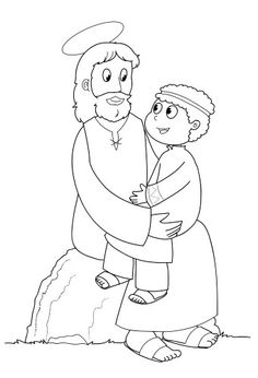 Jesus is Baptised Beautiful coloring page of Jesus