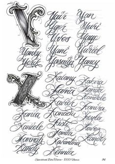 Calligraphy Tattoo Fonts, Cursive Tattoos, Writing Tattoos, Tattoo Script, Name Tattoos, Tattoo Ink, Sleeve Tattoos, Script Alphabet, Hand Lettering Alphabet