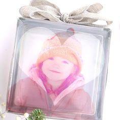 A glass photo block makes a gorgeous DIY gift! Learn the easiest-ever method for photo transfer to glass. Plus how to add a shape overlay to your photos.