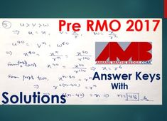 Pre RMO 2017 question paper with answer keys and solution. PRMO is a first stage exam of Mathematics Olympiad exams. Geometry Questions, Olympiad Exam, Negative Integers, Permutations And Combinations, Natural Number, Number Theory, Real Numbers, Question Paper, Student Studying