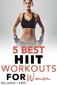Here are 5 HIIT workouts you can do from home. Get ready for some serious fat blasting from these HIIT workouts for women by women!