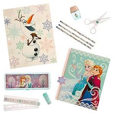 Disney Frozen Stationery Supply Kit | Disney StoreFrozen Stationery Supply Kit - They'll happily while away eternal winters with this <i>Frozen</i> Stationery Supply Kit. Anna and Elsa are featured on this 11-piece back-to-school essential that includes notebook, pencil case, scissors, and folding ruler.