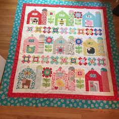"""#farmgirlvintage #beeinmybonnet #loriholt last quilt of 2015. Can't wait for a new year!!!"""
