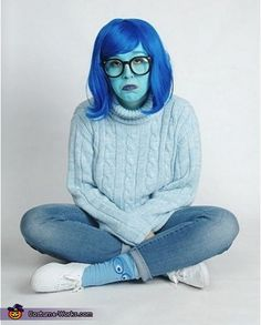 Inside Out Sadness - DIY Halloween Costume Idea #halloween #costume #ideas www.facebook.com/CollegeEscrowInc