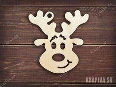 Елочная игрушка Улыбающийся олень заготовка zag-ng-deer5 купить в интернет-магазине krapiva.su