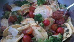 Salade de ravioli aux épinards et à la ricotta