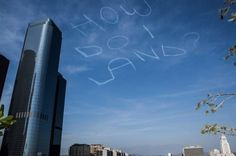 Kurt Braunohler hires man in plane to write stupid things in the sky