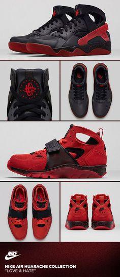 reputable site f5852 9cd85 Nike Air Huarache Love amp Hate Sneakers Shoes, Kicks Shoes, Sneaker