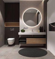 Examples Of Minimal Interior Design For Bathroom Decor 45 de. - Examples Of Minimal Interior Design For Bathroom Decor 45 design - Modern Bathroom Design, Simple Bathroom, Bathroom Interior Design, Modern Interior Design, Master Bathroom, Mirror Bathroom, Silver Bathroom, Mirror Vanity, White Bathroom