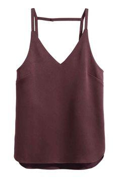 Top de alças em tecido | H&M